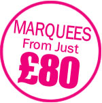 Marquee's from just £80.00!